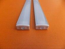 LED alüminyum kanal beyaz difüzör kapaklar, uç kapaklar, ve montaj klipleri LED esnek/sert şerit ışık kurulum
