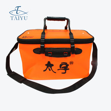 Top Quality Red Color 30cm 40cm 45cm Outdoor Canvas Bucket Folding Bucket Portable Camping Hiking Bucket Fishing Tackle Tools