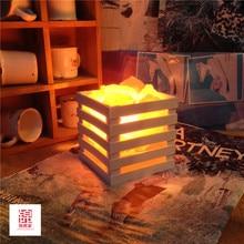 ГОРЯЧАЯ смола Гималайских кристалла соли лампа настольная лампа спальня украшение ночник lampsof глава кровать
