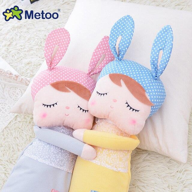 Kawaii Stuffed Plush Animals Cartoon Kids Toys for Girls Children Baby Birthday Christmas Gift Angela Rabbit Girl Metoo Doll