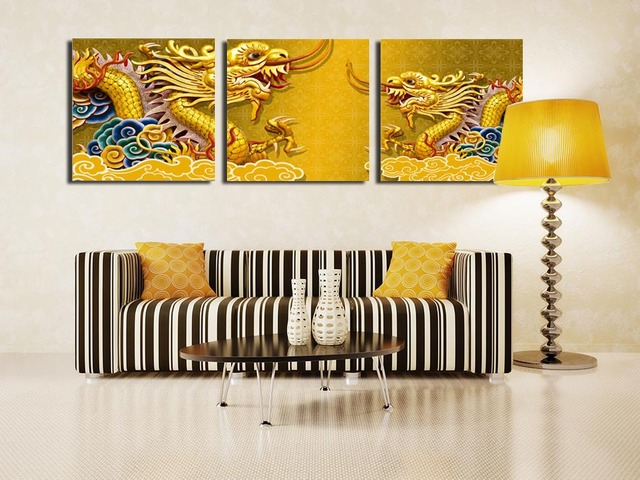 Modern Art Wall Paintings Ancient Chinese legend dragon Flying ...