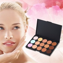 15 Color Pro Makeup Facial Concealer Camouflage Cream Palette Cosmetic Beauty Tools HS11