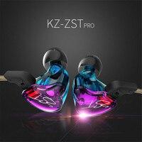KZ ZST Armature Dual Driver Earphone Detachable Cable In Ear Headset Audio Monitors Noise Isolating HiFi