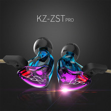 KZ ZST Armature Dual Driver Earphone Detachable Cable In Ear headset Audio Monitors Noise Isolating HiFi Music Sports headphone