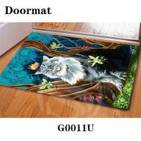 Custom Cat DoorMat Art Pattern Printed Carpet Floor Hall Bedroom Cool Pad Fashion Rug Free Shipping