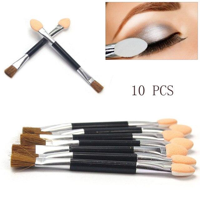 Practical 10pcs Women Disposable Double Ended Sponge Brush Eye Shadow Applicator Tools makeup brushes pincel maquiagem pincel