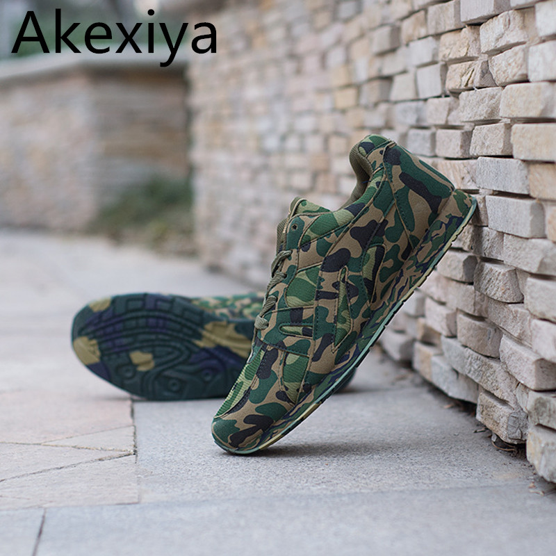 Akexiya Large Desert Digital Camouflage Military Shoes Breathable Extra Large Size Men Size 39 48 Casual