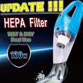 2016 Portable Car Vacuum Cleaner Wet and Dry Aspirador de po dual-use Super Suction 120W Car Vacuum Cleaner (HEPA Filter)