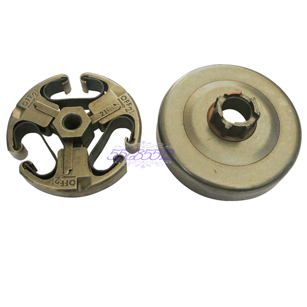 Clutch Drum Assembly 3 Shoes For HUSQVARNA 268 272 266 61 66 Chainsaw Parts