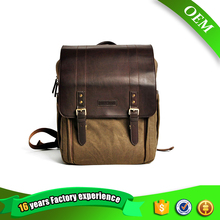 Caden Shockproof Photo Brown Camera Backpack Bag Professional Case Bag Retro Canvas Shoulders Bag