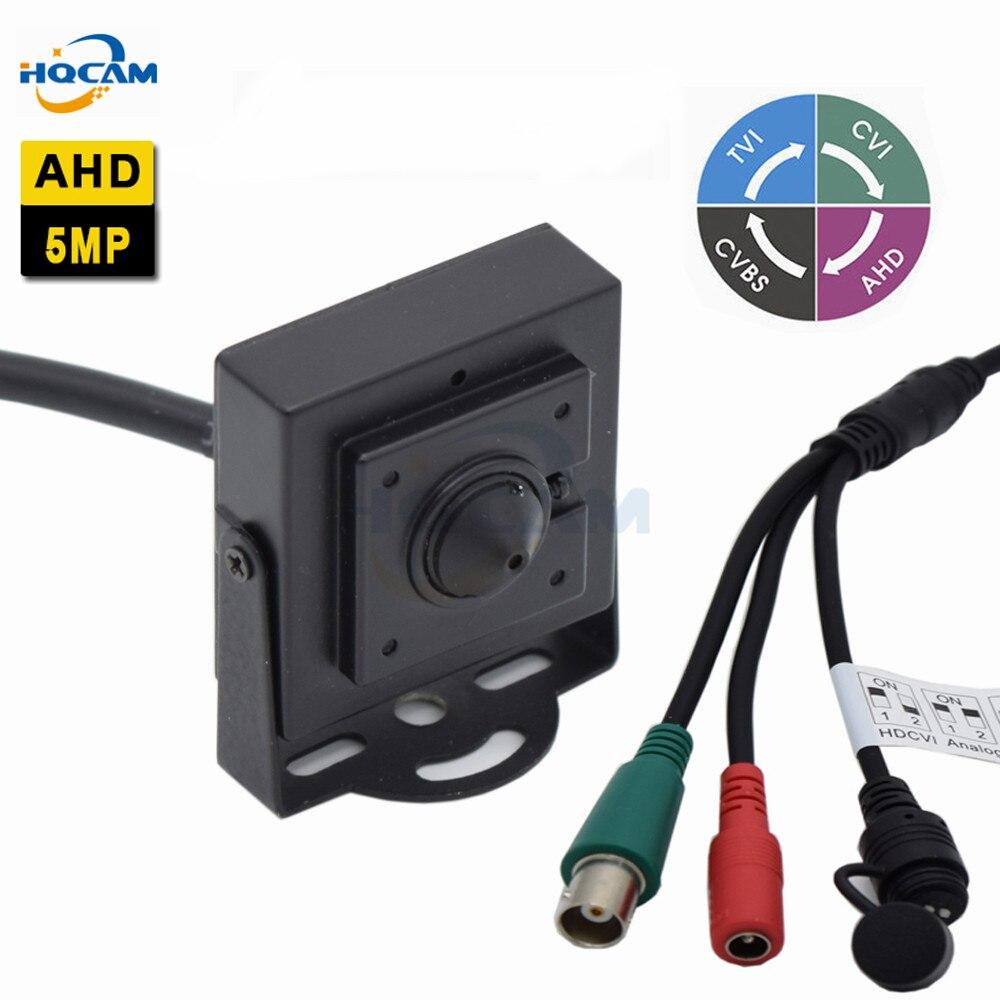 HQCAM Mini AHD Camera 5 0MP Camera Indoor Security CCTV Camera DIP switch 4 IN 1