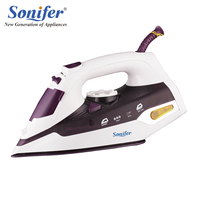 2200W Original Colorful Portable Electric Steam Iron For Clothes 220V Three Gears Ceramic Soleplate Sonifer