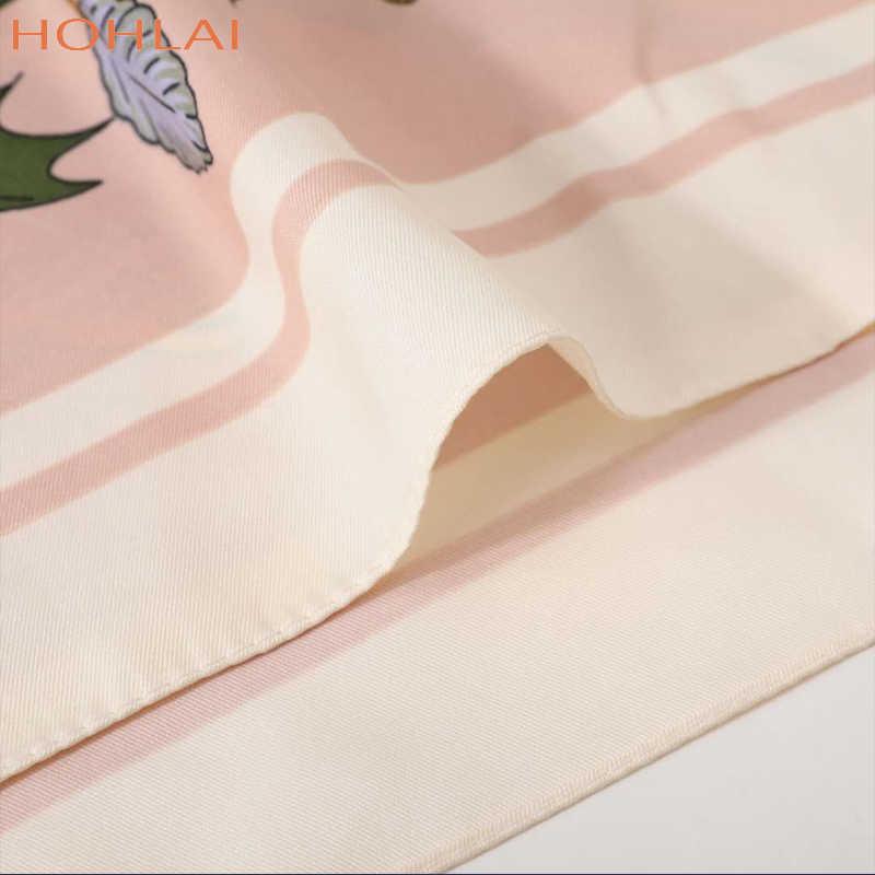 100% Twill Di Seta Della Sciarpa Delle Donne di Fiori di Stampa Piazza Sciarpe di Grandi Dimensioni Bandana Fazzoletto Hijab Sciarpa di Lusso Femminile Foulards 130 CENTIMETRI * 130 CENTIMETRI