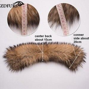 Image 5 - ZDFURS * damski kołnierz z prawdziwego futra szop kwadratowy kołnierzyk szalik szal kołnierz zimowy szalik ZDC 163010