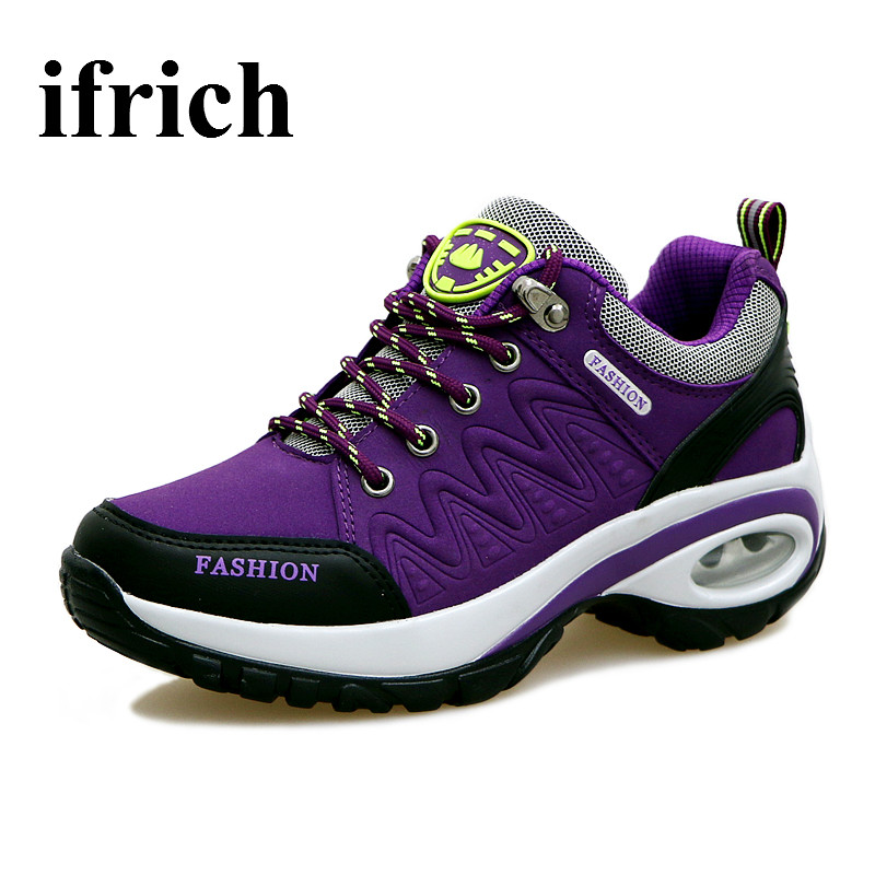 ФОТО Hiking Shoes For Women Spring Summer Walking Boots Women Height Increasing Outdoor Shoes Womens Hot Sale Girls Trainers Air Shoe