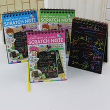 1PC Scratch Note Black Cardboard Creative DIY Draw Paper Sketch Notebook Cute School Supplies Stationery