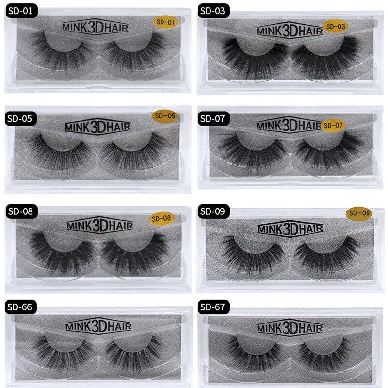 Mangodot Eyelashes 1Pair 3D Mink Lashes Luxury Hand Made Reusable Mink Lash Long Lasting Volume Lashes Extension False Eyelashes