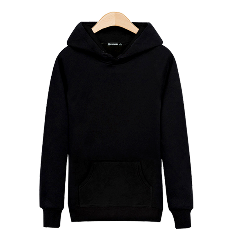 High Quality Color Black/Gray Solid Mens Hoodies and Sweatshirts Sets for Street Wear Sweatshirt ...