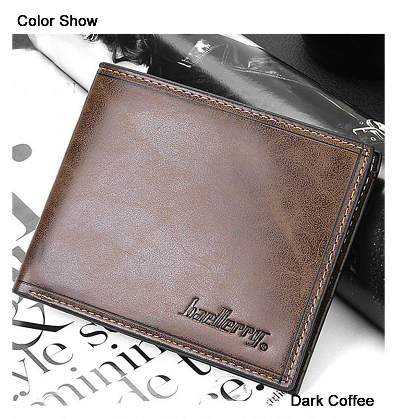 Baellerry brand! 2017 Hot Selling Male Leather Casual Short Design Standard Wallet Card holder Fashion Male Purse 4 colors male leather casual short design wallet card holder pocket