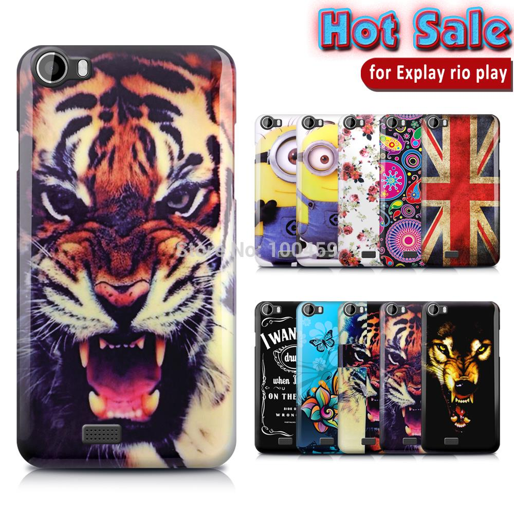 On Stock New Various Top Fashion Glossy Skin Back Print TPU Gel Silicone Case For Explay Rio Play