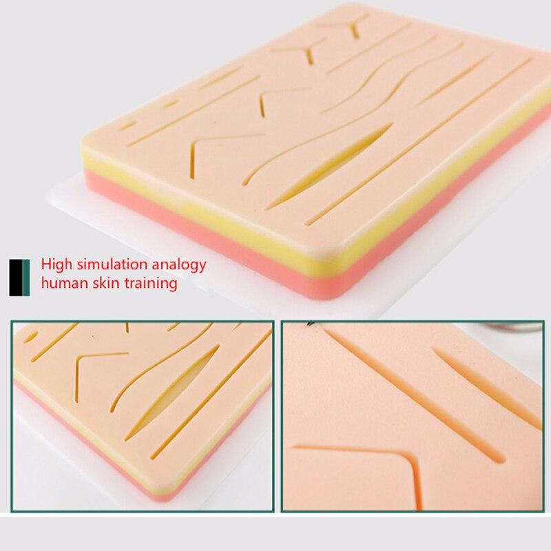 Coussin de Silicone de pratique de Suture de peau chirurgicale avec le Module de Suture de peau simulée par blessure équipement médical chirurgical de haute qualité