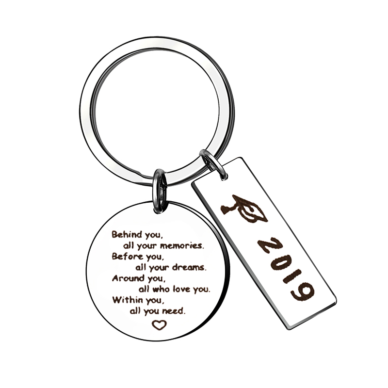 XIAOJINGLING 2019 Behind Before Around Within You All Your Memories Dreams Who Love You All You Need Graduation Jewelry Gifts image