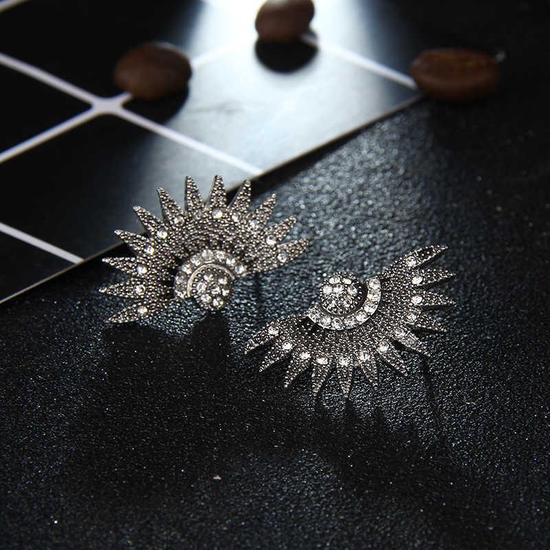 Mode luxe élégant marque cristal boucles d'oreilles pour femmes fille fête de noël opale pierre or boucle d'oreille bijoux cadeau e0250