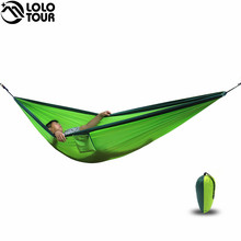 Ultra-large 2 Person Parachute Cloth Hammock Double Garden Swing Nylon Survival Hamac Sleeping Hamaca Hamak Rede De Dormir Bed