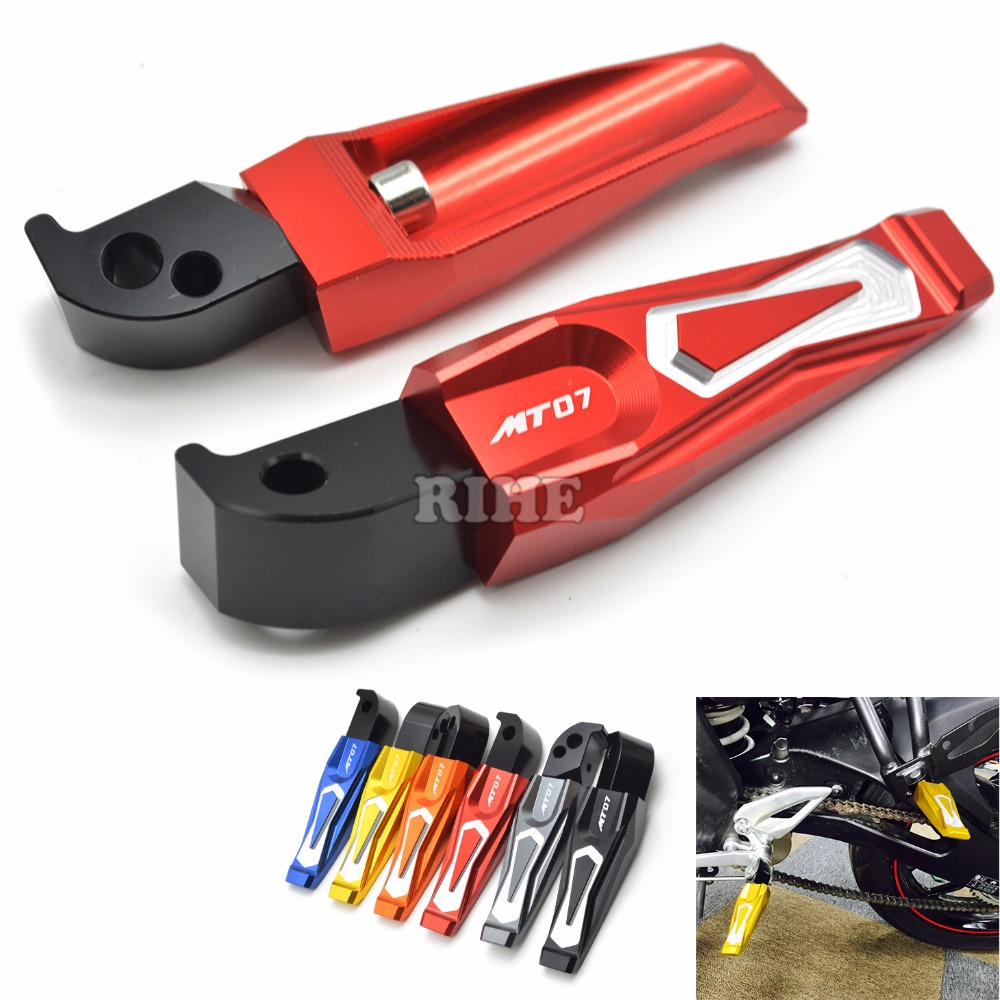 CNC Motorcycle Pedals Rear Passenger Foot pegs Foot rests For yamaha MT-07 MT 07 mt-07 mt 07