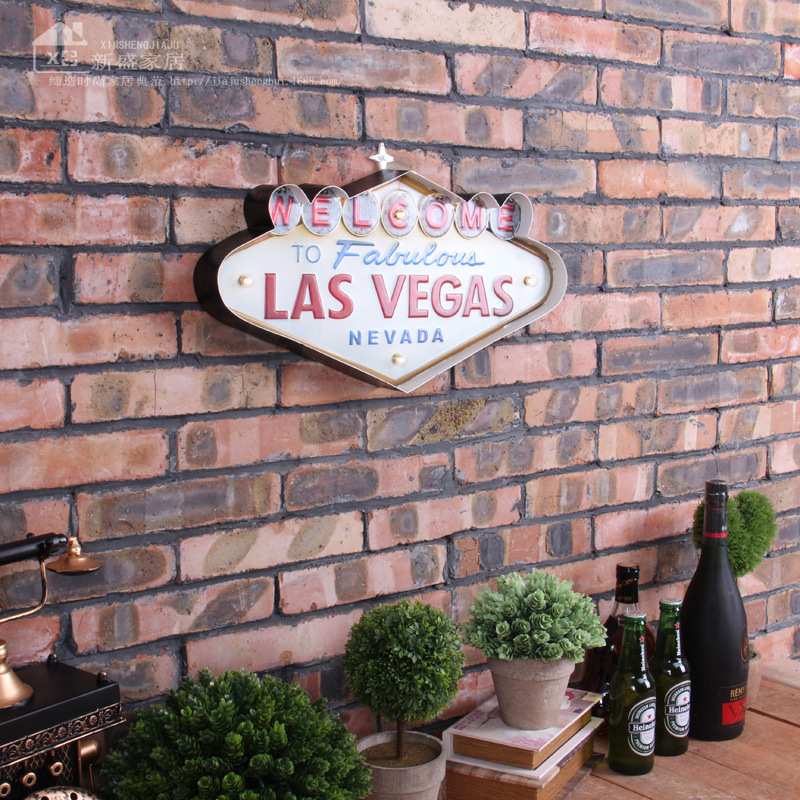 Las Vegas Decoration Metal Painting Neon Welcome Signs Led