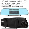 fashion 5 inch dual-lens Car DVR Support HDMI Full HD video transmission and TF memory card, up to 32GB