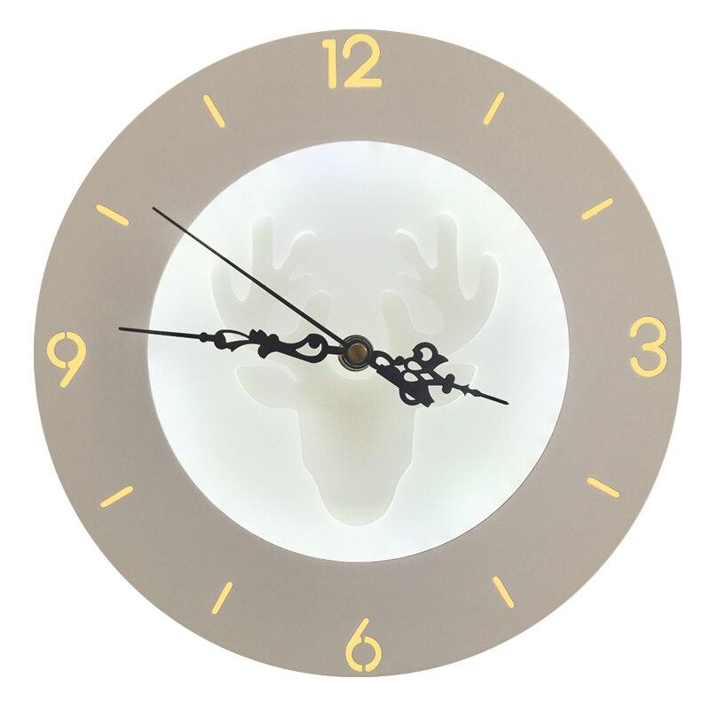 2019 22 W applique murale avec fonction horloge lampes acryliques pour motos appliques faites à la main pour salon chambre chevet allée