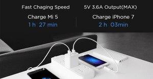 Image 4 - Orijinal Xiaomi USB şarj aleti 2 Port Hızlı Şarj QC3.0 18 20 W Seyahat Şarj Cihazı