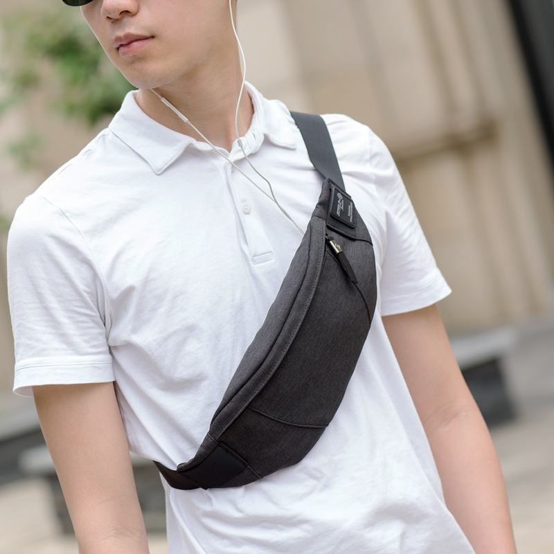 Hk Fanny Pack Black Waterproof Money Belt Bag Men's Waist Bag Packs