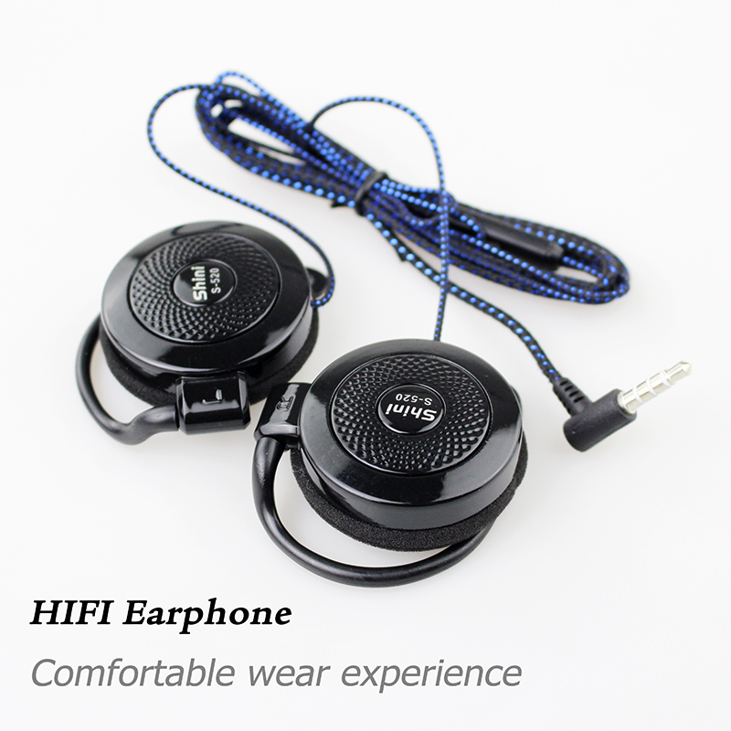 Earphone S520 General Purpose Ear Hook Headphone Headset with Microphone for iPhone Samsung Xiaomi All Mobile Phone new stereo sports headset ear hook headphone noise canceling earphone with microphone for mobile phone free shipping