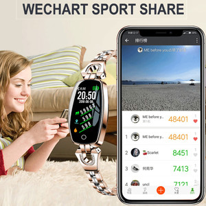 Image 2 - H8 Dames Horloge Slimme Armband Hartslag Bloeddrukmeter Fitness Tracker Stappenteller Waterdicht Stappenteller IOS Android Smartwatch
