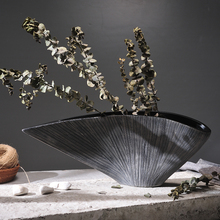 Абстрактное искусство, керамическая ваза, украшение, простые креативные поделки, украшения для дома, сушеные цветы