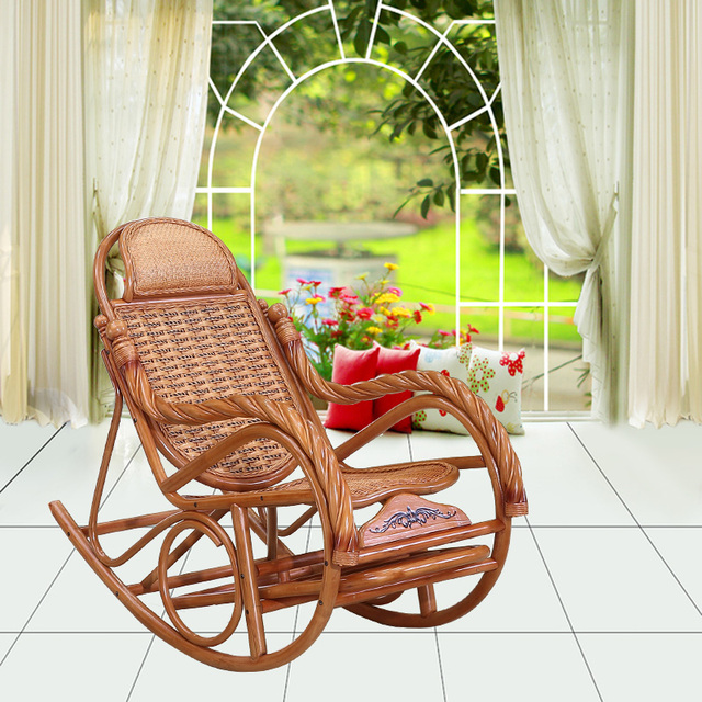 Brilliant Us 1044 0 Happy Rocking Chair Recliner Siesta Old Lazy Chairs Outdoor Leisure Balcony Living Room European Style Rattan In Chaise Lounge From Machost Co Dining Chair Design Ideas Machostcouk