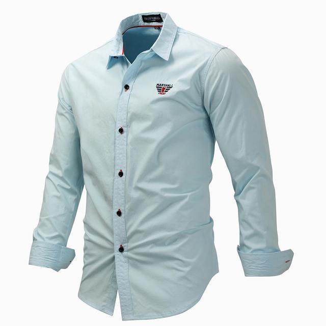 Men's Long Sleeves Cotton Shirt