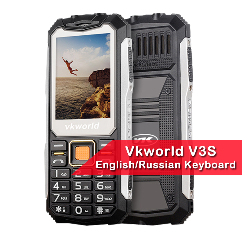 New Arrival VKworld Stone V3S 2.4 Inch Dustproof Shockproof Mobile Phone Power Bank Long Standby Outdoor Army Multi Language
