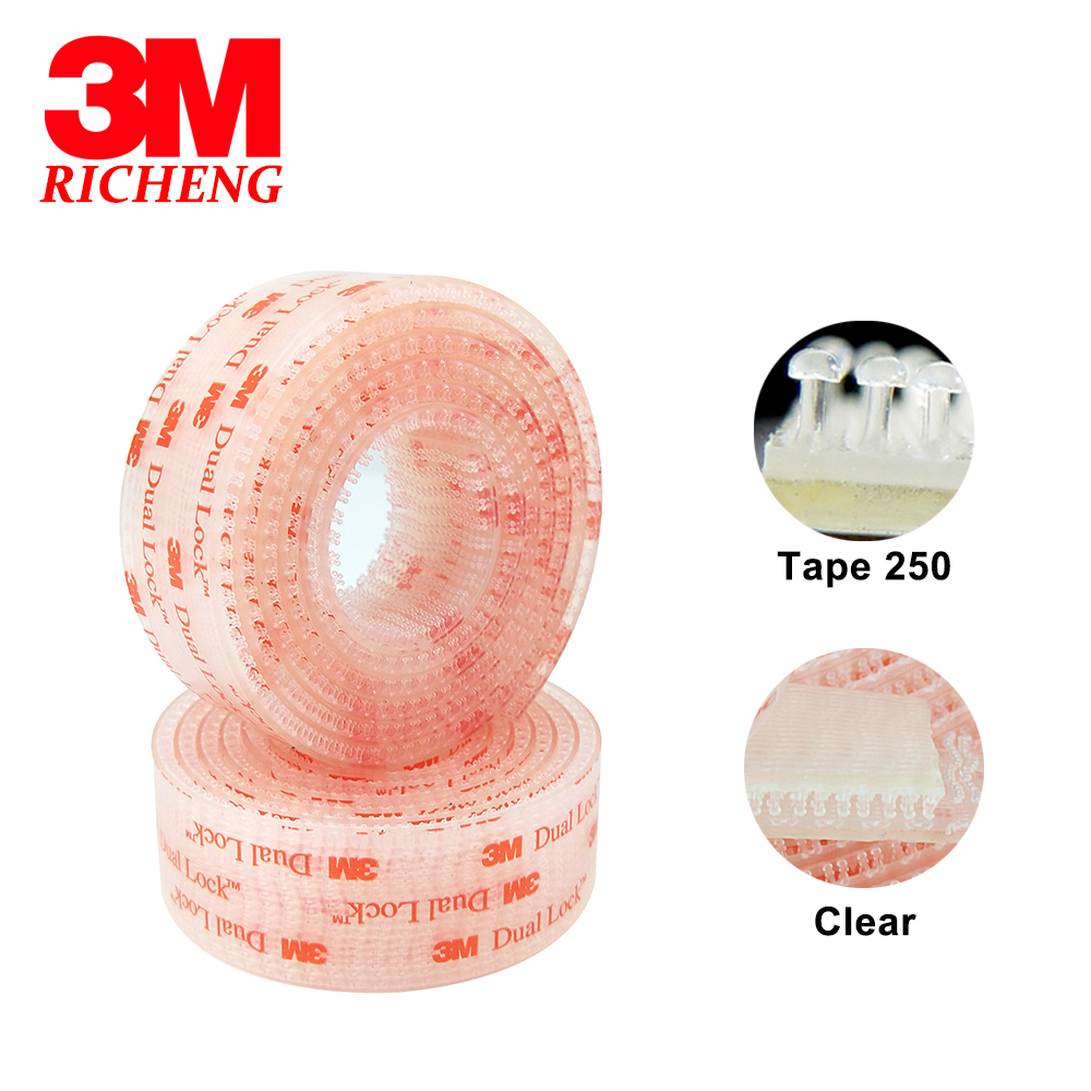 25.4mm x 1m 3M SJ3560 Dual Lock Clear Mushroom Fastener adhesive tape Type 250 3M tape 3m positionable mounting adhesive 24 in x 50 ft clear 56824 dmi rl
