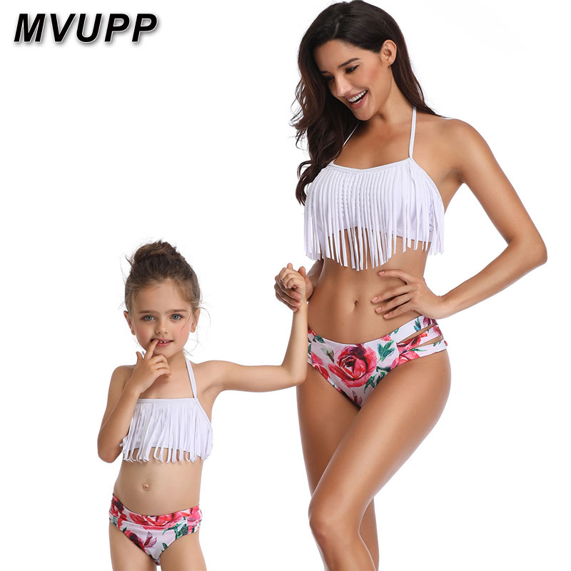 HTB1z74OaPzuK1RjSsppq6xz0XXaX mother daughter swimsuit family matching outfits swimwear mommy and me clothes mom baby bikini mama look high waist summer