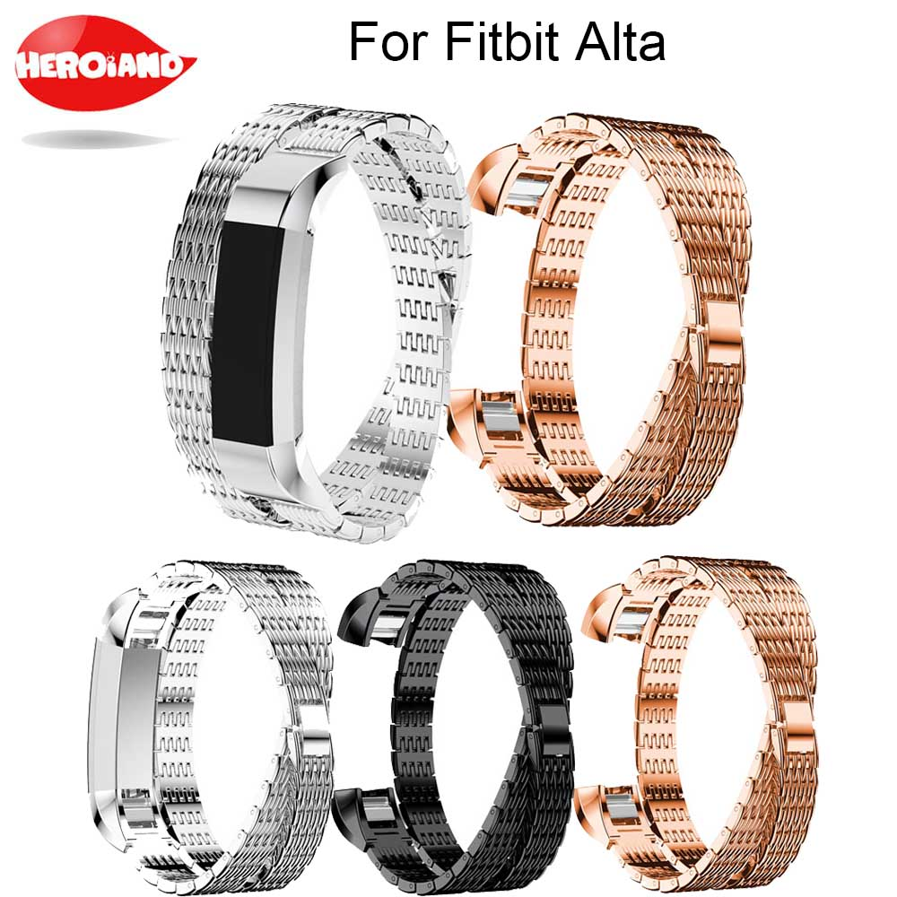 2017 Luxury Genuine watchband Stainless Steel Watch Bracelet Band Strap For Fitbit Alta HR/Fitbit Alta Watch High Quality Strap