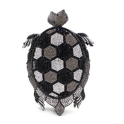 В форме черепахи украшение алмаз роскошные клатчи Женская Хрустальная вечерняя сумочка клатч для выпускного вечера кошелек свадебная сумка sac плоская дамская сумочка