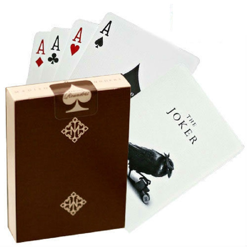 1 Deck Ellusionist Madison Rounders Brown Playing Cards High Quality Magic Cards Pokers Close Up Magic Tricks Props USPCC