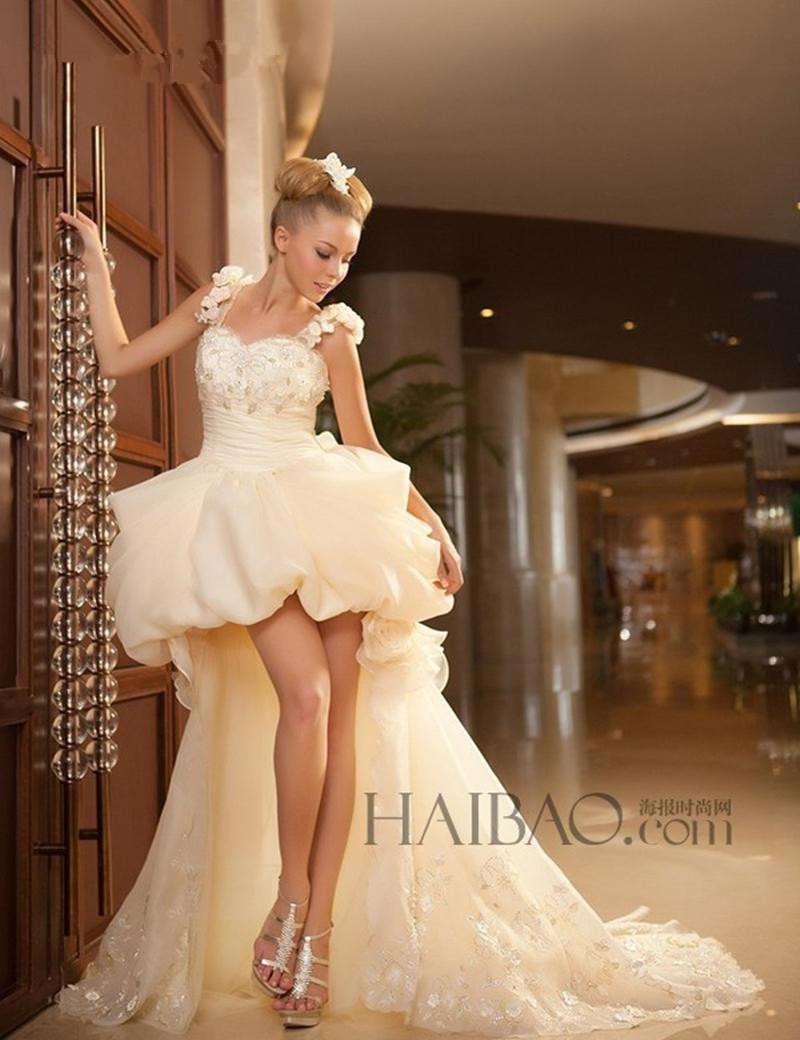 Sexy Sweetheart High Low Bridal Gown Spaghetti Strap Lace Appliques Beach 2018 Robe De Mariee Mother Of The Bride Dresses