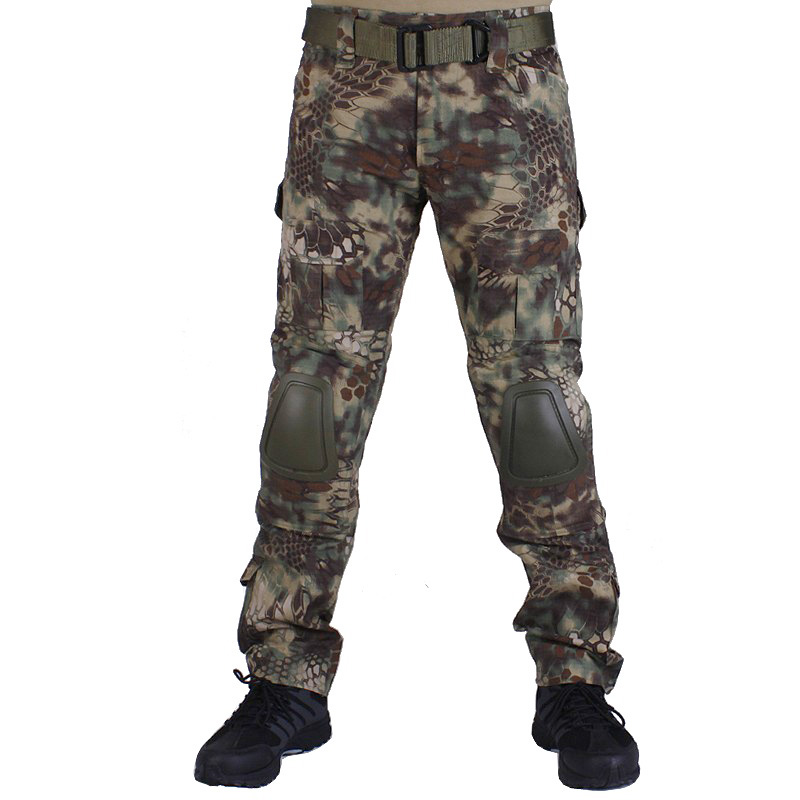 Camouflage military Combat pants men trousers tactical army pants with Removable knee pads Mandrake цена