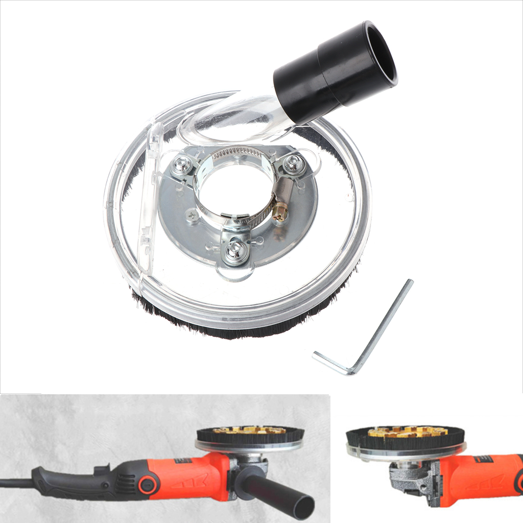 Dust Shroud Kit Dry Grinding Cover Tool For Angle Hand Grinder Clear 80-125mm Drop Shipping Support