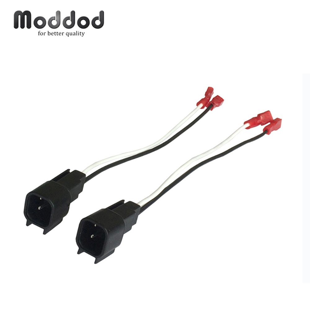 For Honda Speaker Wire Harness Connects Aftermarket To Oem Adapter Wiring Used Printer Plug Set Connector Cable Adaptor 1 Pair