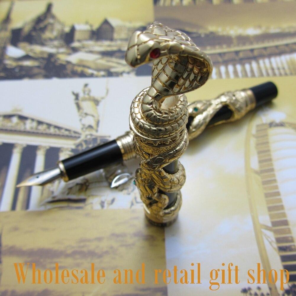 Jinhao Stylo plume serpent 3D Cobra avec coffret cadeau